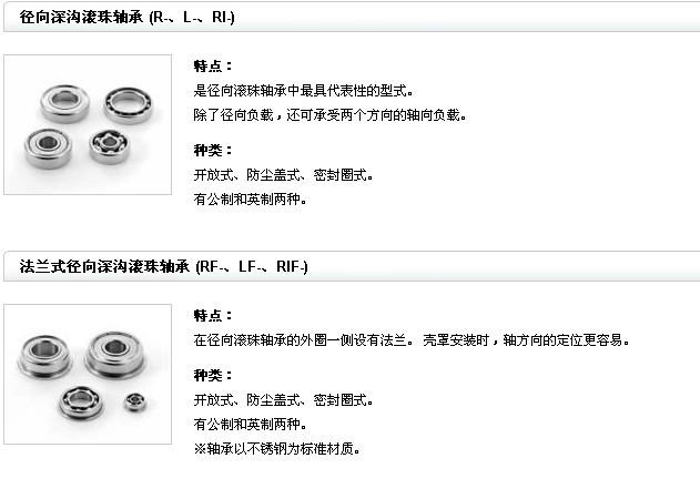 NMB微型轴承产品特点