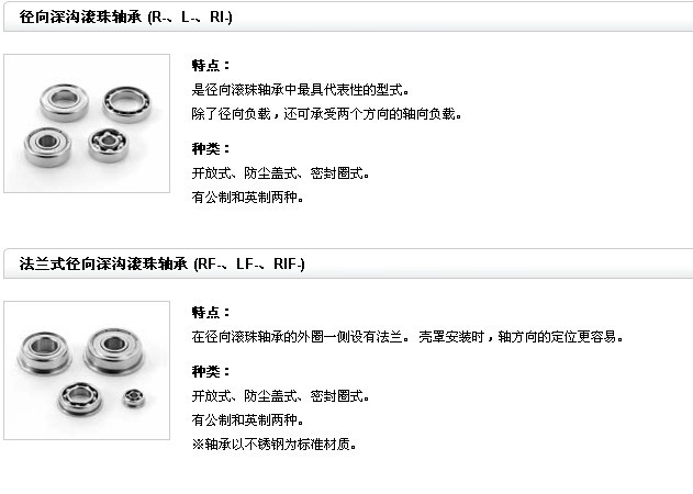 NMB轴承产品特点